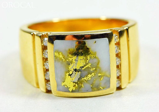 Gold Quartz Ring Orocal Rm779D24Q Genuine Hand Crafted Jewelry - 14K Casting