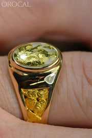 Gold Quartz Ring Orocal Rm803Q Genuine Hand Crafted Jewelry - 14K Casting