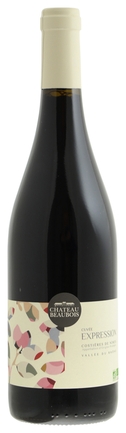 Cuvee Expression Rouge 2013, Organic, Chateau Beaubois, Costieres de Nimes