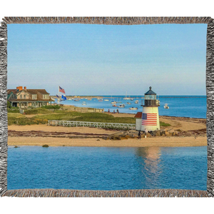 Brant Point Light Woven Blanket