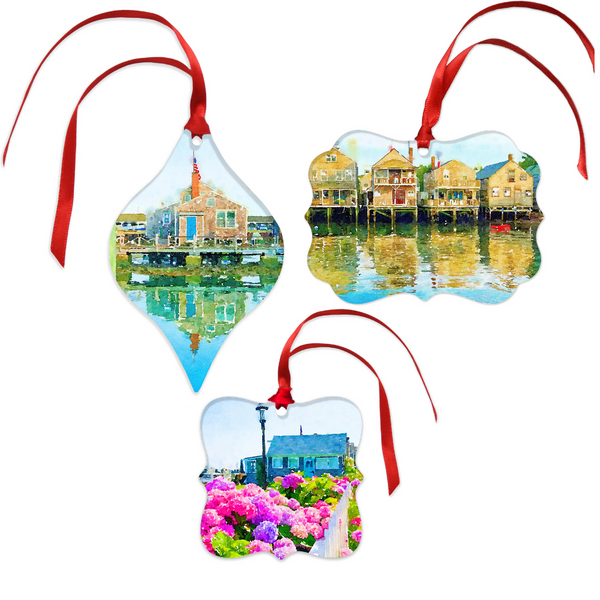 Old North Wharf Christmas Ornament Set