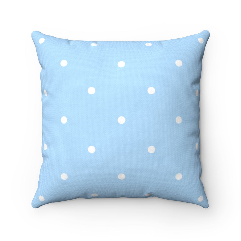 Edgartown Hydrangea Dots Square Pillow