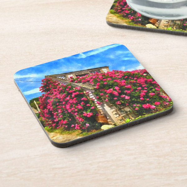 Sconset Rose Cottage Collection Coaster Set