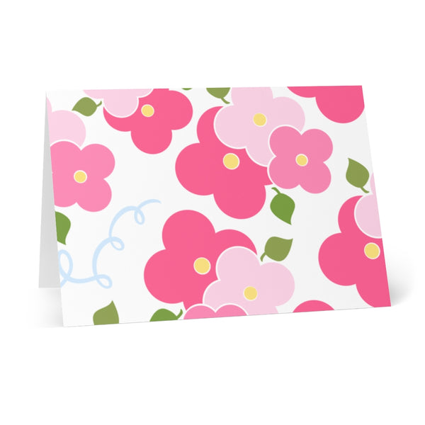 Sconset Rose Cottage Floral Notecards