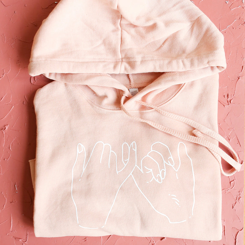 Pinky Promise Cropped Hoodie