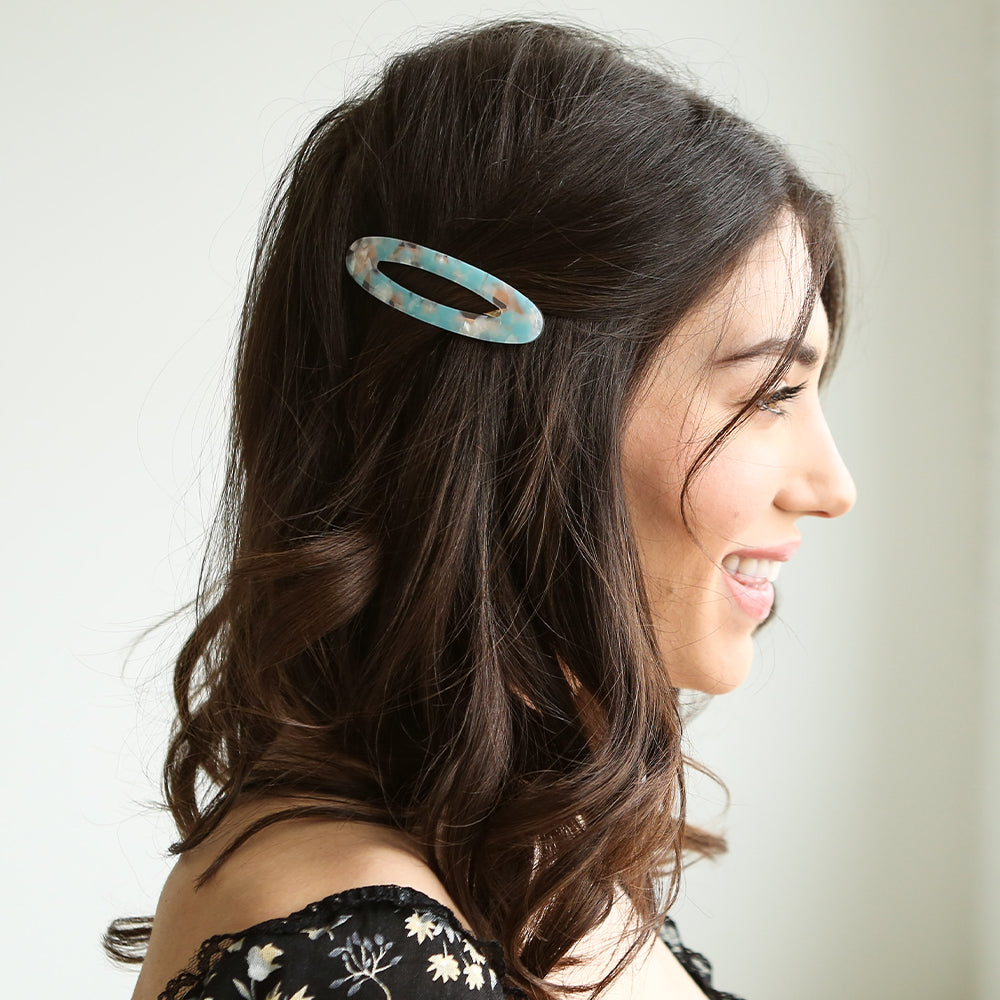 Airy Barrette Blue