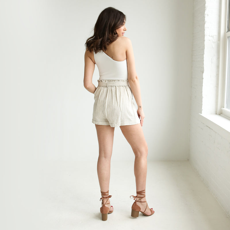 Sandstone Paper Bag Shorts