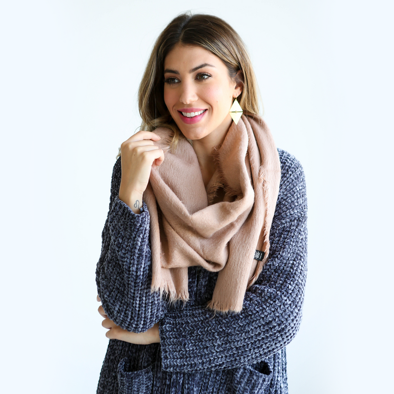 Dusty Rose Scarf