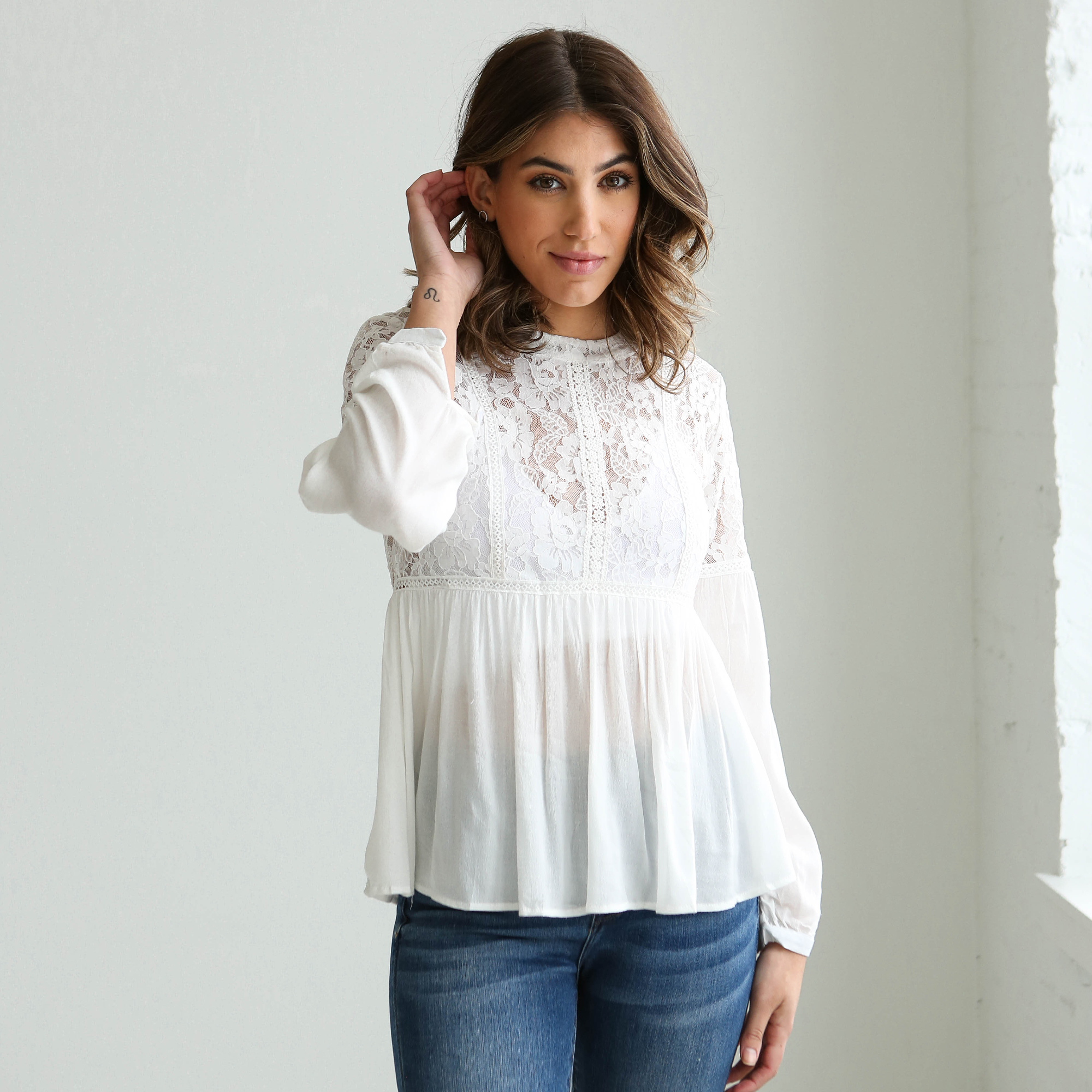 Jaclyn Lace Top