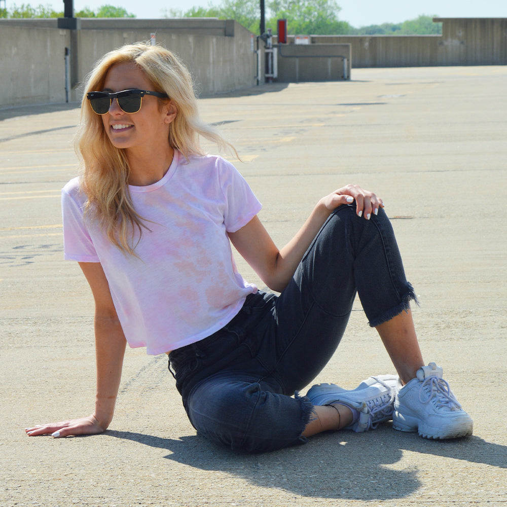 Peachy Cropped Tee
