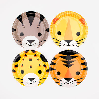 Mini Feline Paper Plates From My Little Day By My Event Stylist