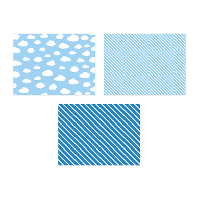 Cloud & Stripe Placemats My Event Stylist