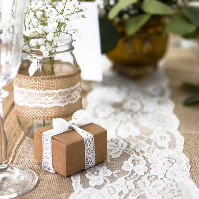 Burlap Lace Table Runner My Event Stylist