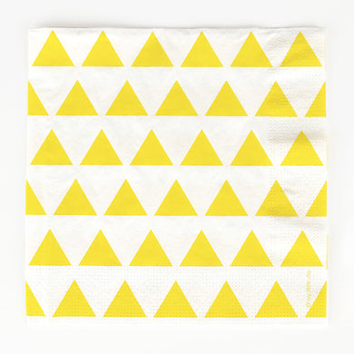 Yellow Triangle Napkins From My Little Day By My Event Stylist
