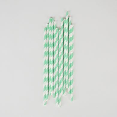 Aqua Stripe Straws From My Little Day By My Event Stylist