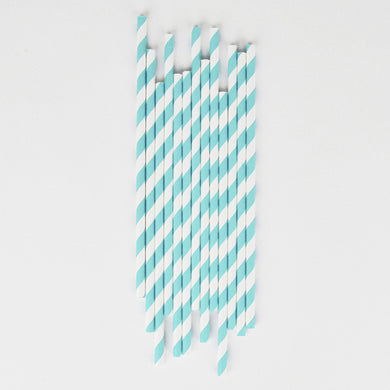 Light Blue Strip Straws From My Little Day By Event Stylist