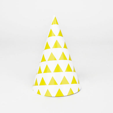 Yellow Triangle Party Hat From My Little Day By My Event Stylist