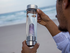 Amethyst Crystal Water Bottle