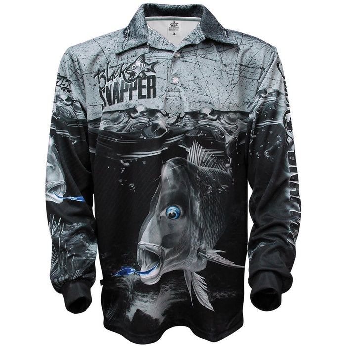 Bigfish Black Snapper Adult Fishing Shirt