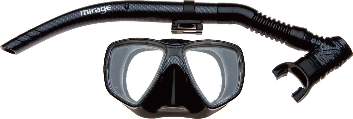 Mirage Carbon Adult Mask & Snorkel Set