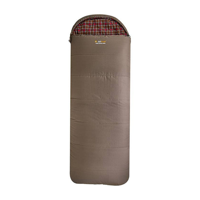 Oztrail Cotton Canvas Jumbo Hooded Sleeping Bag