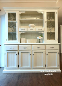 Kitchen Hutch, White Kitchen Buffet Hutch - SOLD