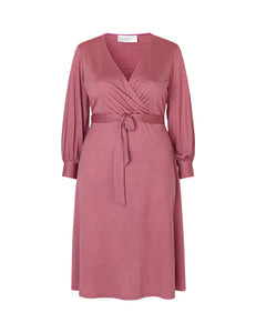 Frances Wrap Dress in Silk and Wool