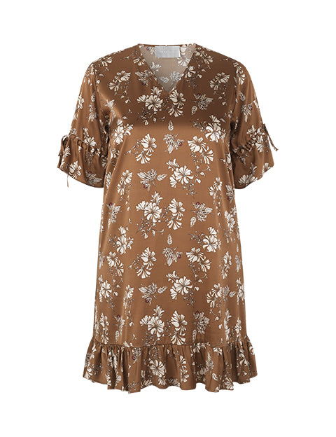 Rosa Dress Brown Sugar