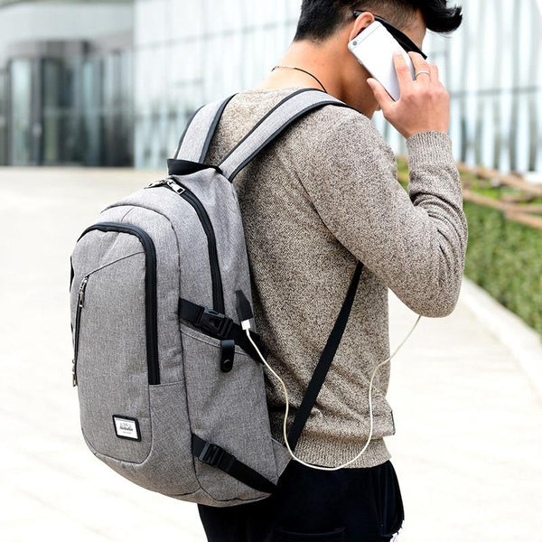 OUR AMAZING NEW PRODUCT...Men's laptop backpack with Power bank with USB charging Cable!
