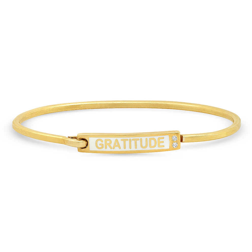 Gratitude Diamond Bangle