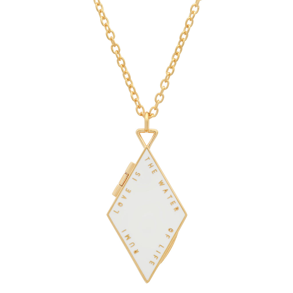 Light Diamond Shaped Locket
