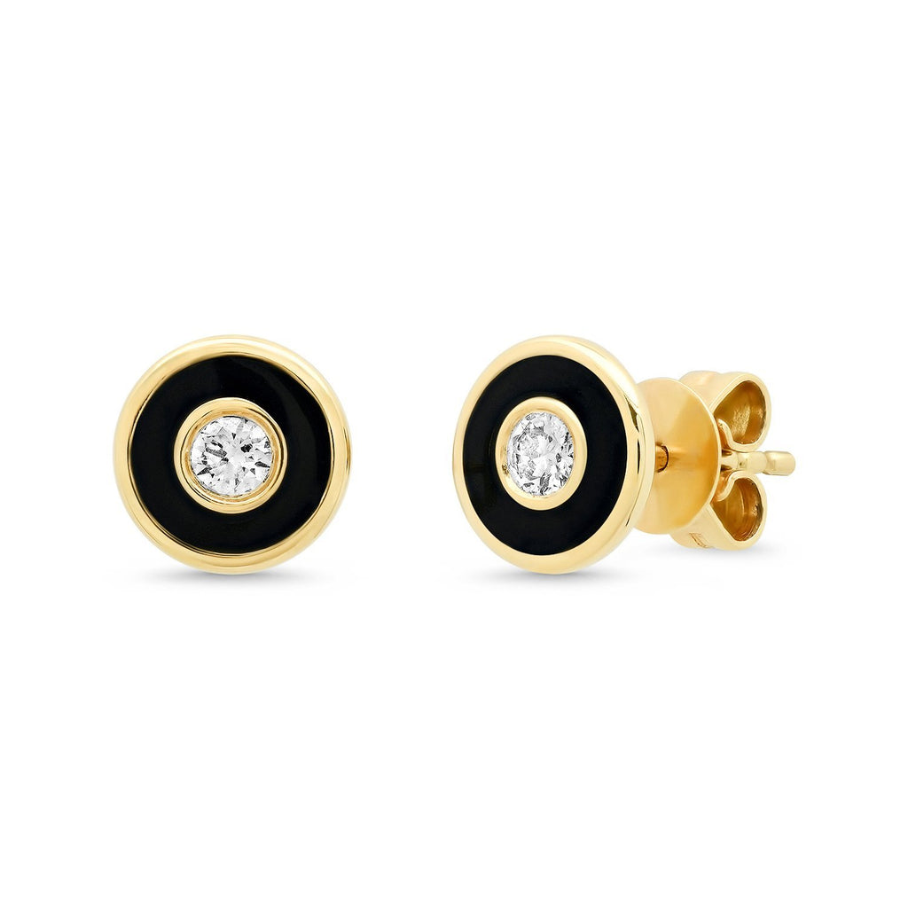 Diamond Enamel Studs