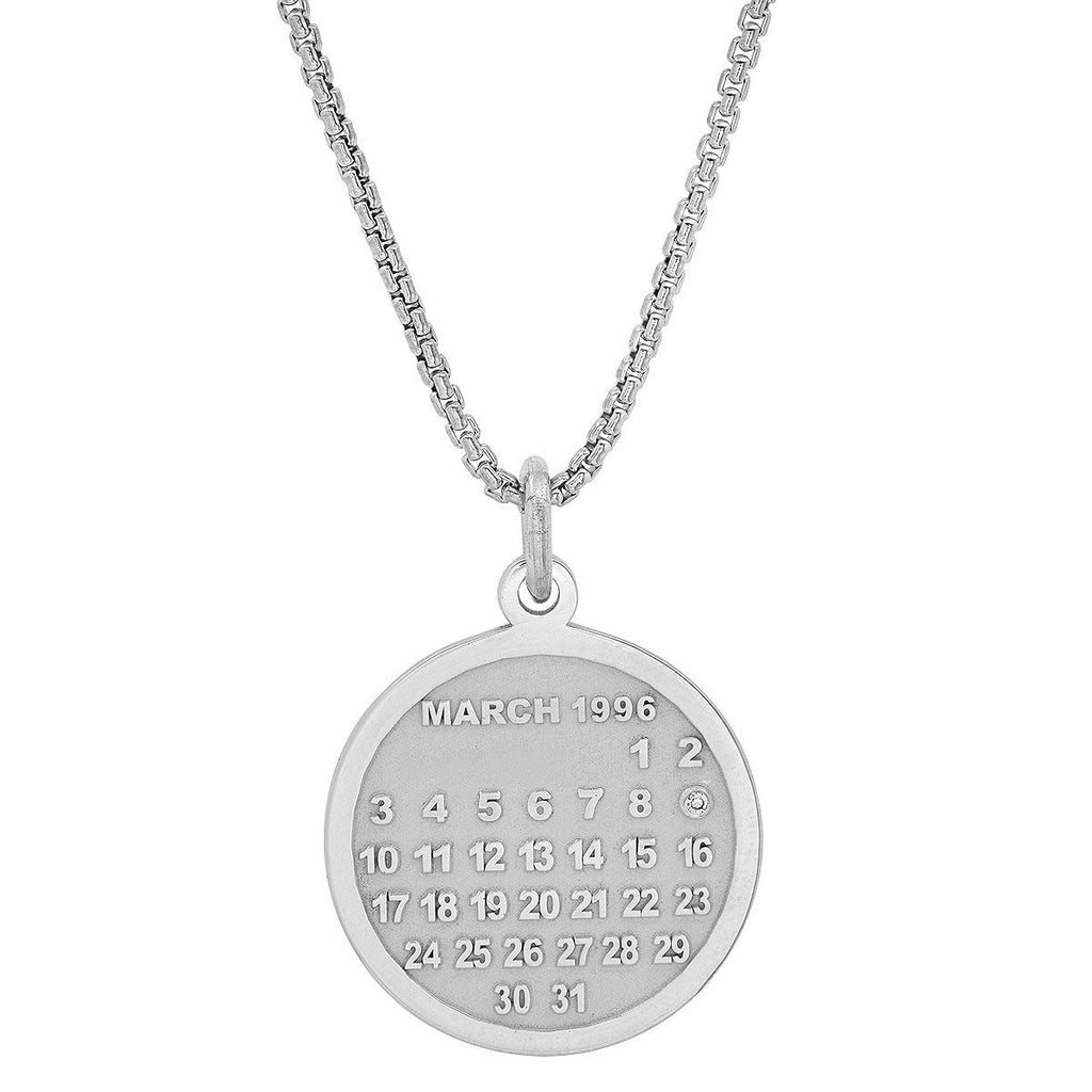 Men's Calendar Charm Necklace