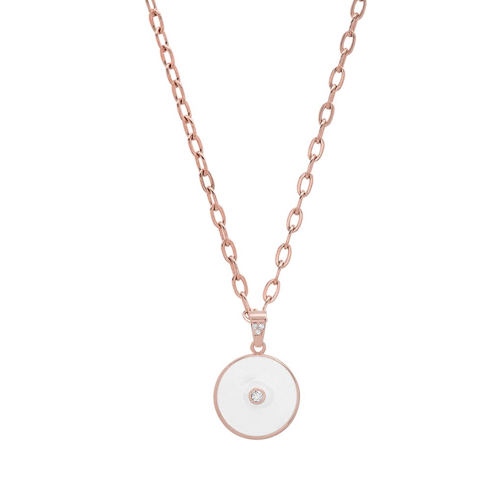 Gratitude Slide Locket White Rose Gold