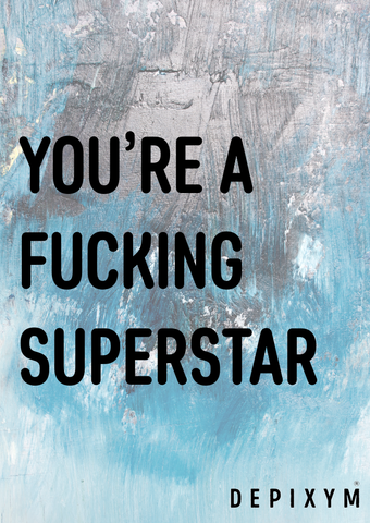 FUCKING SUPERSTAR POSTCARD