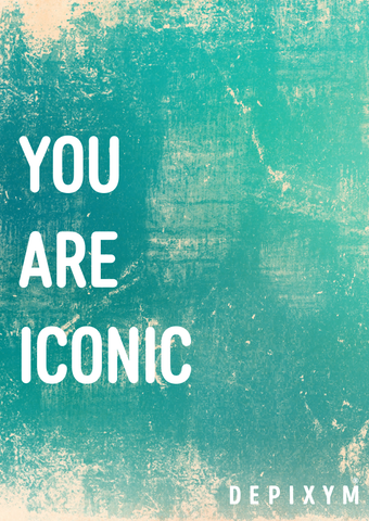 YOU ARE ICONIC POSTCARD