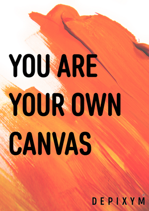 You Are Your Own Canvas Postcard