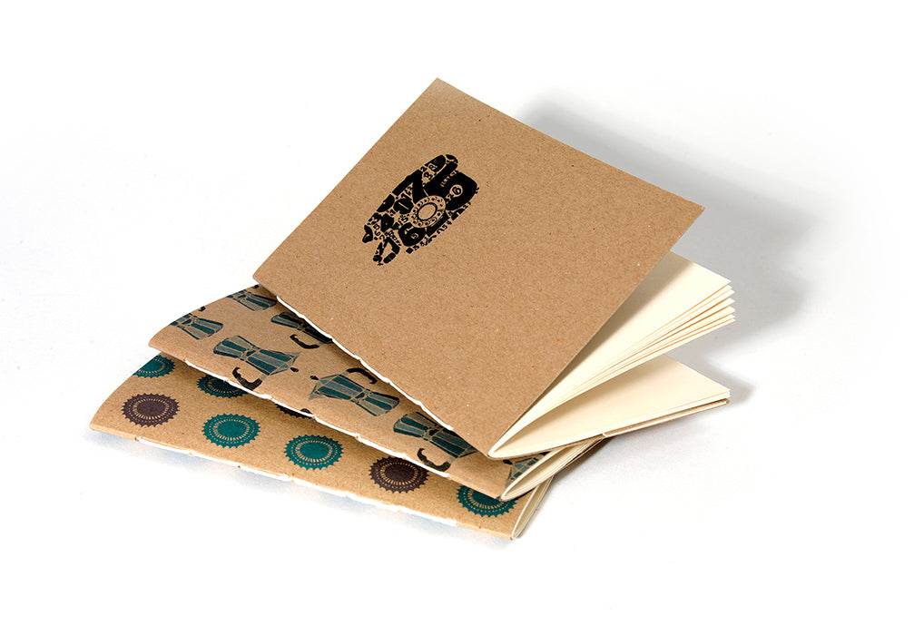 A6  Kraft Notebook with Pocket