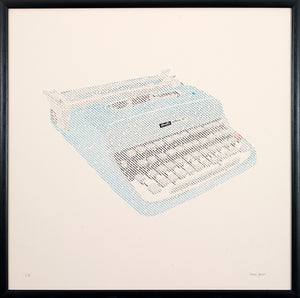Limited Edition Typewriter Silkscreen Print
