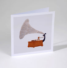 Gramophone Greetings Card