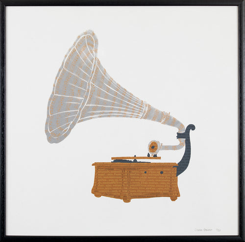 Limited Edition Gramophone Silkscreen Print