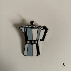 Coffee Lover Hard Enamel Pin Badge (SECONDS)