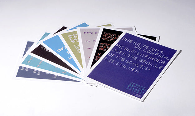 Set of 8 Typographic Postcards