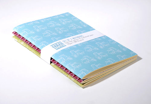 Set of 3 Retro Notebooks
