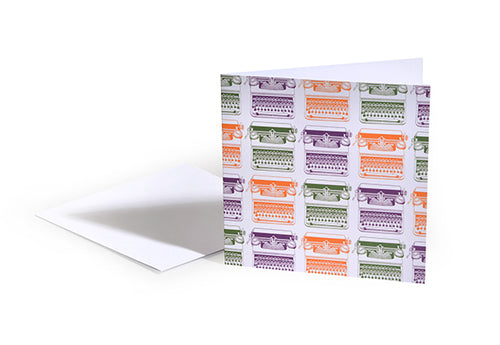 Typewriter Pattern Greetings Card