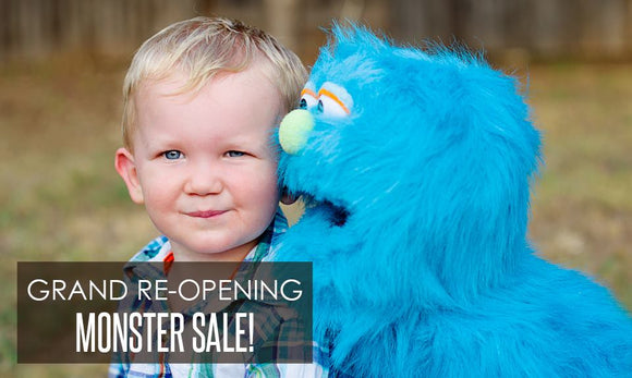 Grand Re Opening Puppets4u, Your best source for all your puppet needs.