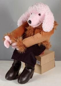 "28"" Pink Poodle Puppet Full Body/Sale"