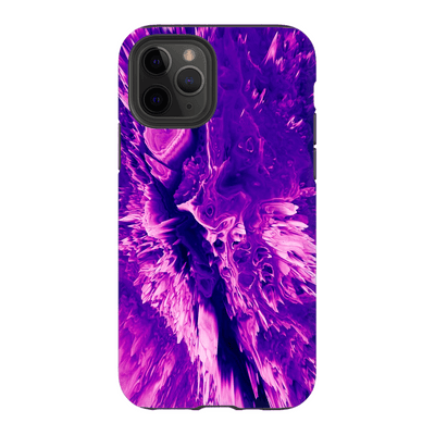 3D Purple Abstract iPhone 11 Series Tough Case