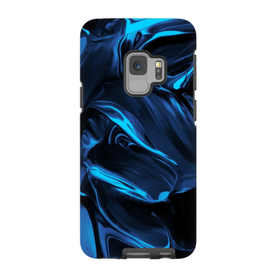 Satin Blue Abstract Galaxy S6-S9+ Series