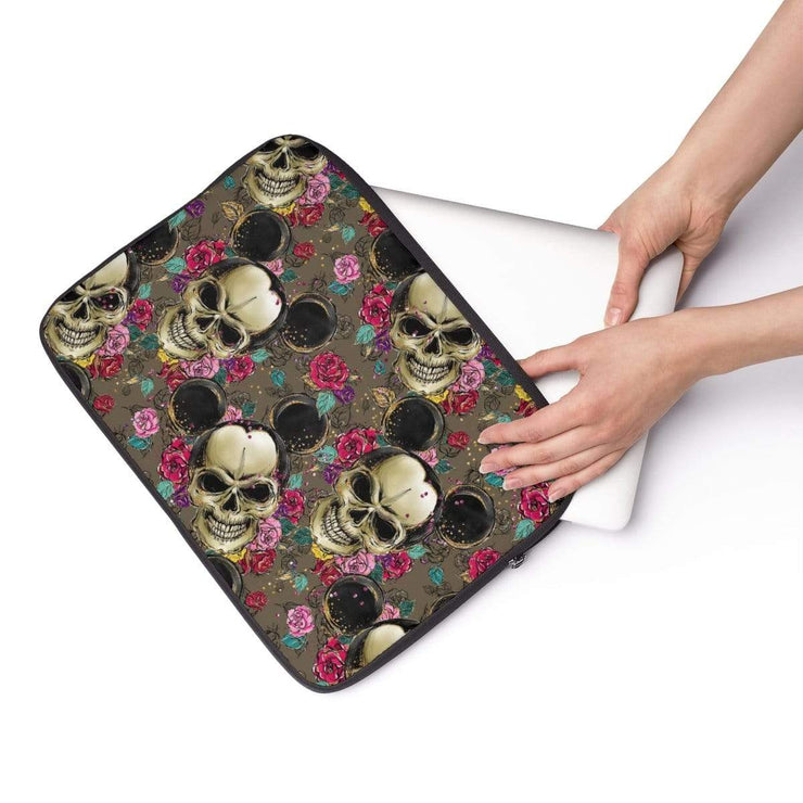 Mickey Mouse Skulls Laptop Sleeve - Purdycase
